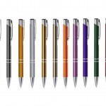 CM101(fina) – Caneta esferográfica metálica em diversas cores personalizada – Promocional