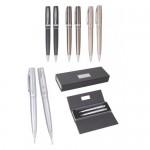 CJV14 – Conjunto de caneta e lapiseira de metal com estojo clássico – Personalizado