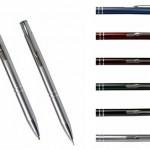 CL4B – Kit de caneta e lapiseira metalicos com estojo personalizado – Promocional