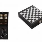 KT14 – Kit vinho com 4 peças e jogo de xadrez – Para brindes