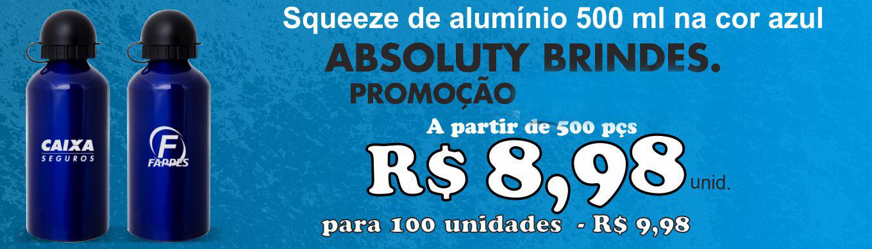 Promoção Squeeze de Alumínio  Absoluty Brindes Corporativos