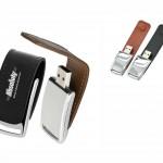 PDM10 – Pen drive de couro sintético – Promocional