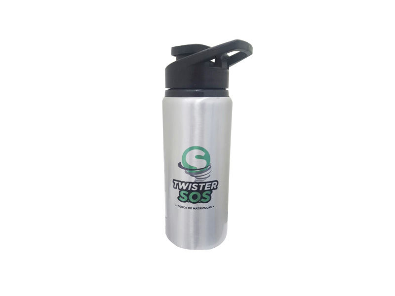 SM10T – Squeeze de alumínio com tampa plástica de bico, capacidade para 600 ml – Para brindes