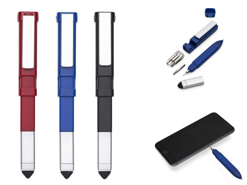AB13543Z – Caneta Plástica Touch com Ferramentas – Promocional