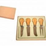 AB144PT – kit de queijo 4 peças + estojo – Personalizado