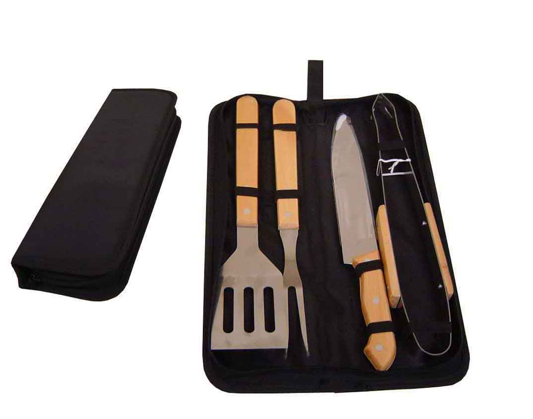 AB183PT – kit de churrasco 4 peças com estojo – Personalizado