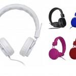 FON5C – Headphone de couro sintético com microfone KIMASTER – Personalizado