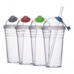 AB13866Z – Copo Plástico 480ml com Canudo – Para brindes