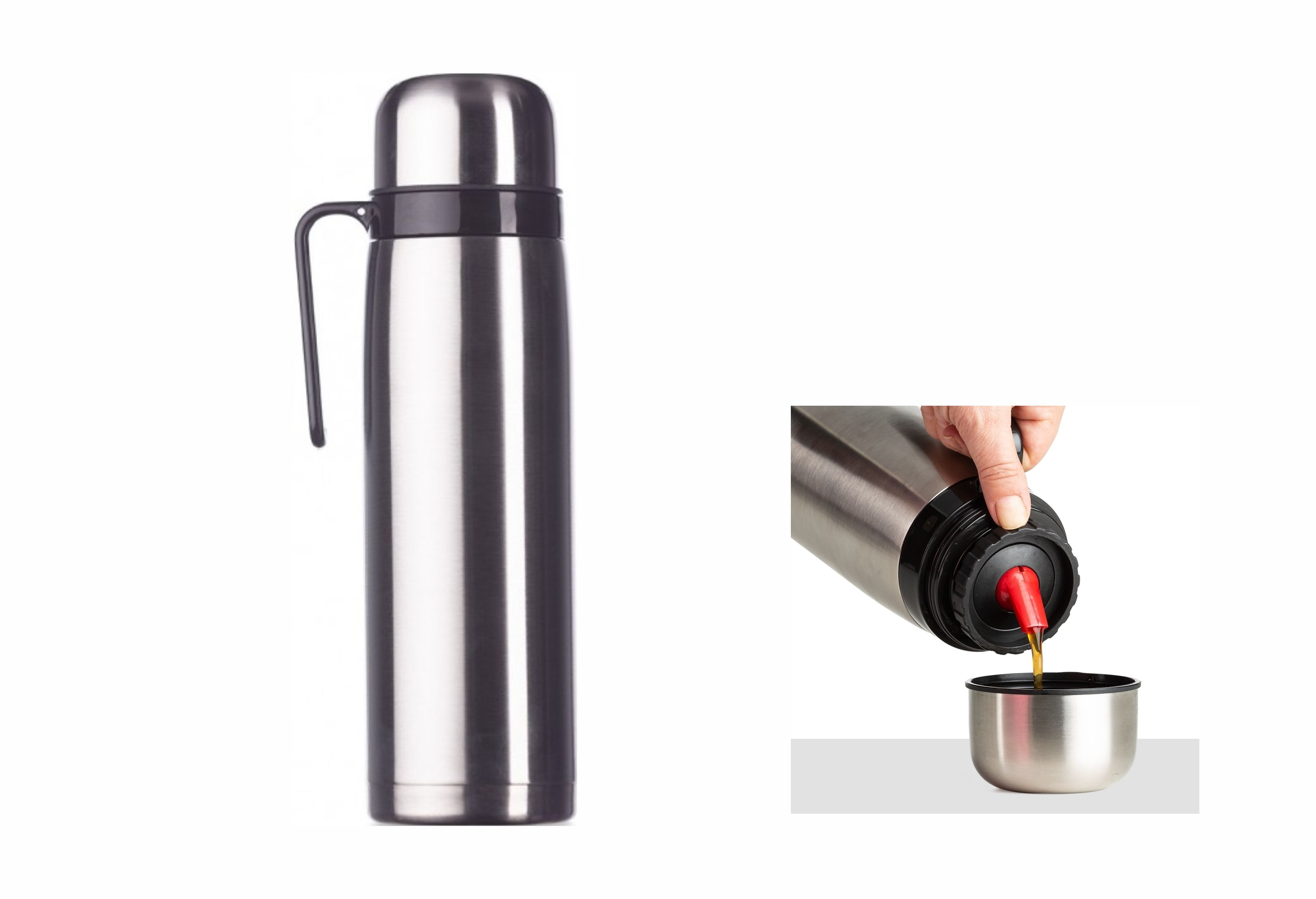 AB02090Z – Garrafa Térmica 1 Litro Inox – Promocional